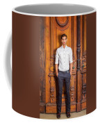 Portrait Of Young American Businessman Coffee Mug