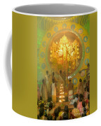 Priest Praying To Goddess Durga Durga Puja Festival Kolkata India Coffee Mug