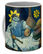 Still Life With Teapot And Fruit Coffee Mug