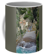 This Is A View Of Furore A Small Village Located On The Amalfi Coast In Italy  Coffee Mug