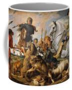 Wolf And Fox Hunt Coffee Mug