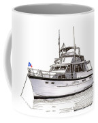 50 Foot Hatteras Motoryacht Coffee Mug