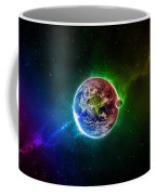 56996 3d Space Scene Colorful Digital Art Earth Coffee Mug