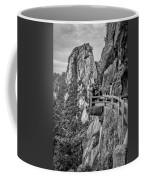 5807- Yellow Mountains Black And White Coffee Mug