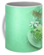 A Gift Of Preservrd Flower And Clay Flower Arrangement, White An Coffee Mug