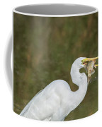 Great Egret With Fish Coffee Mug