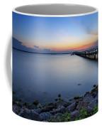 Melbourne Beach Pier Sunset Coffee Mug