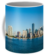 Miami Florida City Skyline Morning With Blue Sky Coffee Mug