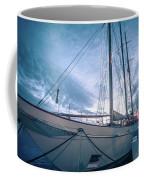 Newport Rhode Island Harbor With Tall Ships At Sunset Coffee Mug