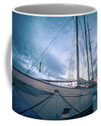 Newport Rhode Island Harbor With Tall Ships At Sunset Coffee Mug