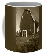 Barn And Wild Flowers Sepia Coffee Mug