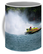 Roostertail From Racing Hydroplanes Boats On The Detroit River For Gold Cup Coffee Mug
