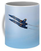 U S Navy Blue Angeles, Formation Flying, Smoke On Coffee Mug