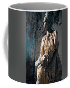 Woman In Bronze Statue Look With Patina Body Paint Coffee Mug