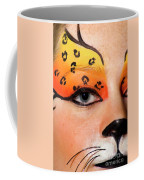 Young Female Model With Make Up Mask Coffee Mug