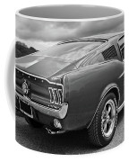 67 Fastback Mustang In Black And White Coffee Mug