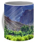 aerial view of Leh ladakh landscape Jammu and Kashmir India Coffee Mug