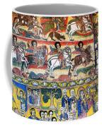 Ancient Orthodox Church Interior Painted Walls In Gondar Ethiopi Coffee Mug