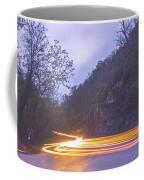 Automobile Traffic Long Exposure At Dusk In Pisgah National Park Coffee Mug