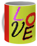 Graphic Display Of The Word Love  Coffee Mug