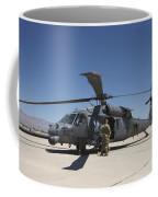 Hh-60g Pave Hawk With Pararescuemen Coffee Mug