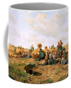 Peasants Lunching In A Field Daniel Ridgway Knight Coffee Mug