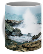 Rocks And Waves At Point Cartwright  Coffee Mug