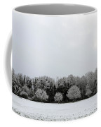 Snow On Epsom Downs Surrey Uk Coffee Mug