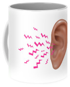 Sound Entering Human Outer Ear Coffee Mug
