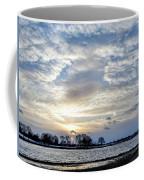 Sunset Over Obear Park In Snow Coffee Mug