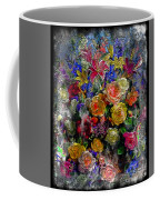 7a Abstract Floral Painting Digital Expressionism Coffee Mug