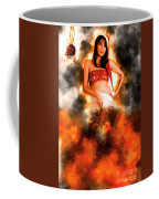 Asian Woman With Santa Hat  Coffee Mug