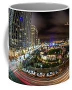 Charlotte City Skyline At Night  Coffee Mug