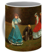 Croquet Scene Coffee Mug