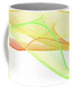 Dynamic And Bright Linear Spiral With Colorful Gradient Coffee Mug