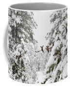 Elk In Deep Snow In The Pike National Forest Coffee Mug