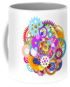 Gears Wheels Design  Coffee Mug by Setsiri Silapasuwanchai