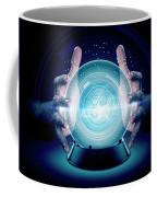 Hands On Crystal Ball And Cryptocurrency Coffee Mug