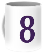 8 In Purple Typewriter Style Coffee Mug
