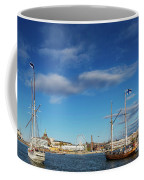 Old Sailing Boats In Helsinki City Harbor Port Finland Coffee Mug