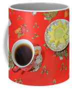 On The Eve Of Christmas. Tea Drinking With Cheese. Coffee Mug