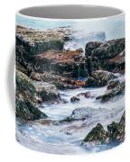 Rocks And Waves At Point Cartwright  Coffee Mug