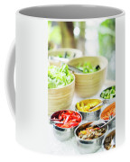 Salad Bar Buffet Fresh Mixed Vegetables Display Coffee Mug
