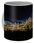 Seattle Skyline At Night Coffee Mug