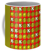 Tic Tac Toe Wooden Board Generated Seamless Texture Coffee Mug