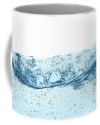 Blue Water Wave Abstract Background Coffee Mug