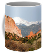 Garden Of The Gods And Pikes Peak Coffee Mug