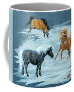 #9 - Ponies In Snow Coffee Mug