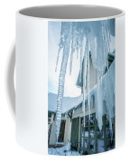 Snowshoe Mountain Village And Restaurants And Shops On A Sunny D Coffee Mug
