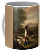 Two Drakes In Landscape Coffee Mug